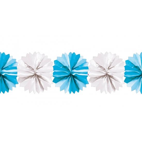 blauwe-geboorte-versiering-waaier-slinger