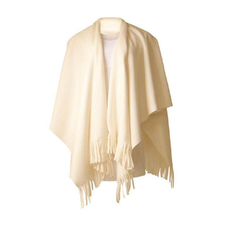 kleding-fleece-poncho-wit