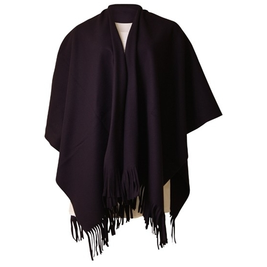 kleding-fleece-poncho-zwart