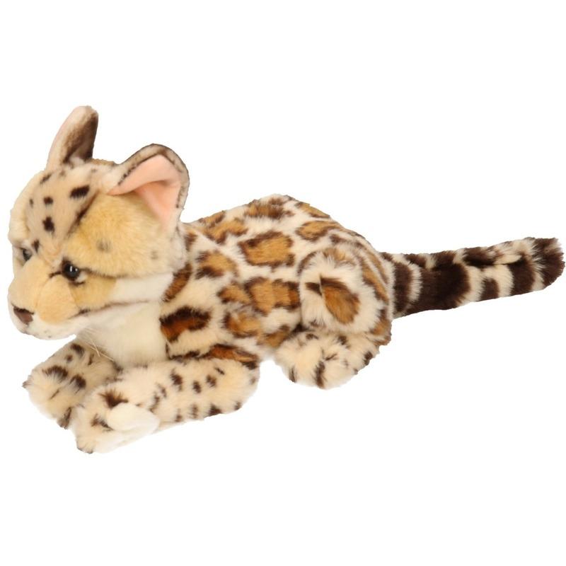 liggende-knuffel-ocelot-kat-28-cm