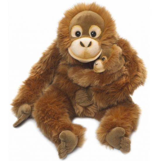 pluche-knuffel-orang-utan-met-baby