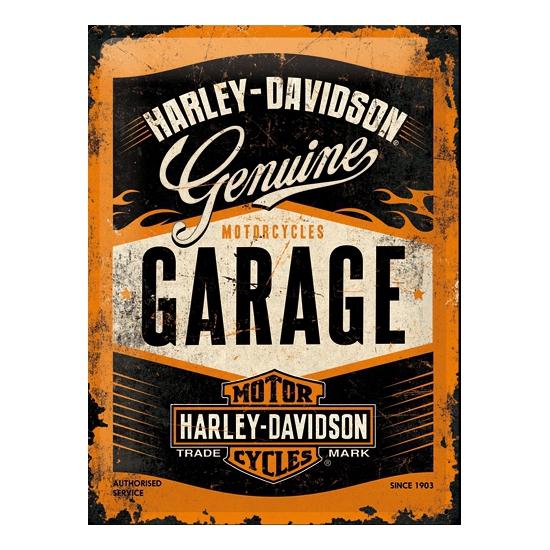 tinnen-plaatje-harley-davidson-garage-30-x-40-cm