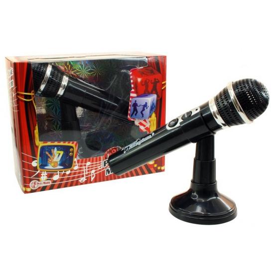 zwarte-nep-microfoon-met-standaar
