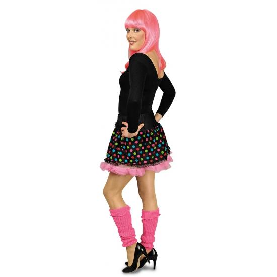 zwarte-petticoat-met-gekleurde-stippen